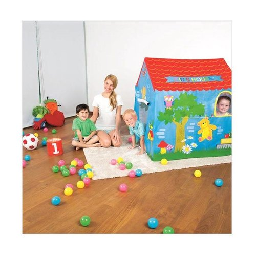 Mainan Anak Tenda Rumah Yellow Roof Cottage Kid House Red Roof Bestway