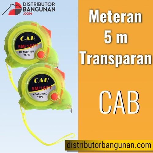Meteran 5 m Transp CAB