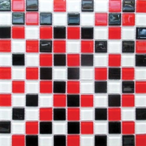 ZEHN Glass Mosaic MC-02 Black Red 30 x 30 cm