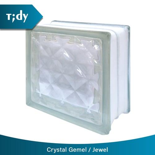 TIDY Glass Block Crystal Gemel Jewel 9 5X19X19Cm