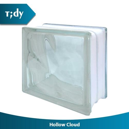 TIDY Glass Block Hollow Cloud 8X19X19Cm