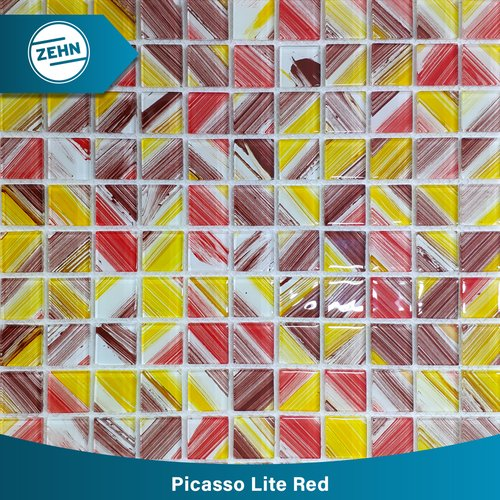 ZEHN Glass Mosaic Mr-151 Picasso Lite Red 30X30Cm