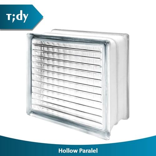 TIDY Glass Block Hollow Paralel 8X19X19Cm