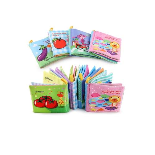BUKU BANTAL / Busy Soft Book Buku Bantal Transport Buah Sayur - Shape Color