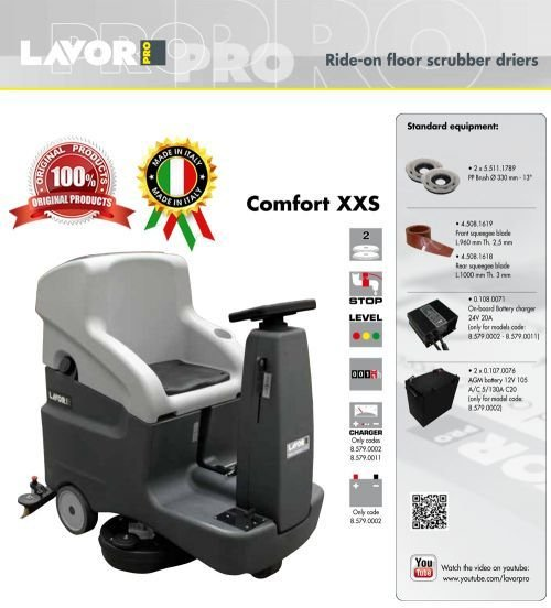 LAVORPRO Ride on Floor Scrubber Driers Comt XXS 66W