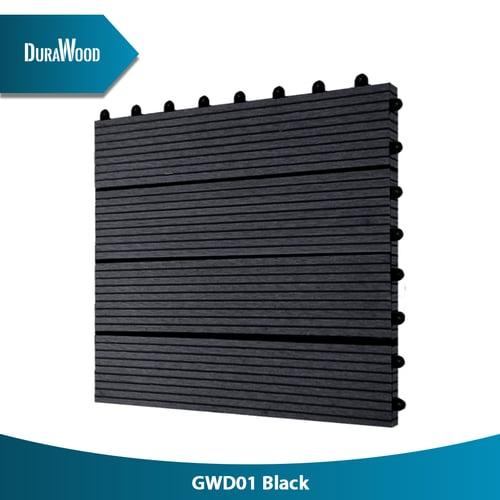 DURAWOOD Decktile Gwd01 M Black 310X310X22 Mm