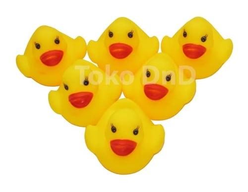 Bebek Karet Kecil Isi 6 Rubber Ducks Bunyi Teman Mandi - Kids Toys