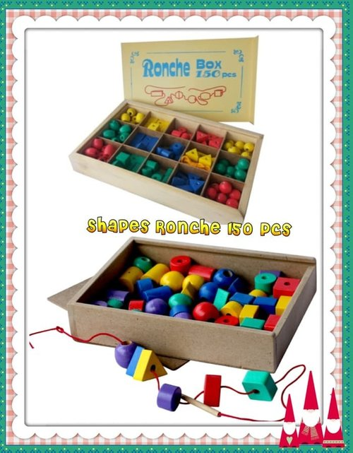 Balok Kayu Shape Ronche Geo 150 Pcs - Kids Toys