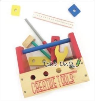 Tool Box Alat Pertukangan Kayu Laki - Kids Toys