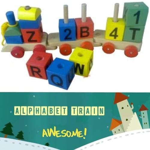 Balok Puzzle Kayu Kereta Huruf Angka 7 Ulasan - Kids Toys