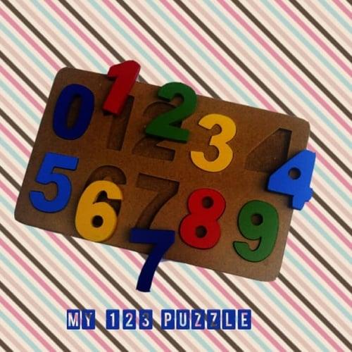 Mainan Balok Puzzle Kayu Angka 123 - Kids Toys