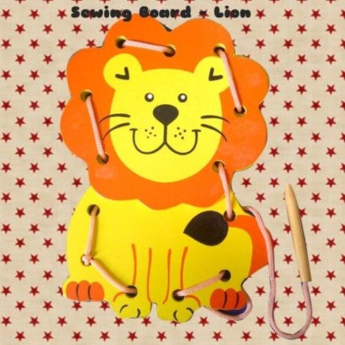 Mainan Edukasi Lion Sewing Board - Kids Toys