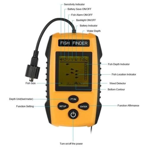 Hot Alarm Fishing Sensor 100M Portable Sonar LCD