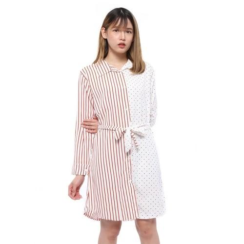 Rimas 03628 Mini Dress Trendy Wanita - Putih Size L