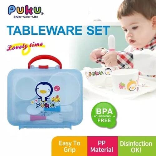 Puku Children Tableware Set Peralatan Makan Bayi Isi 5 Pcs - 14405