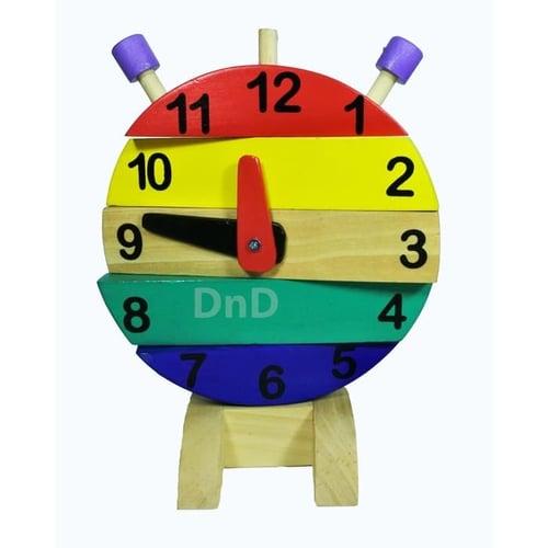 Puzzle Jam Kayu Susun Belajar Waktu - Kids Toys