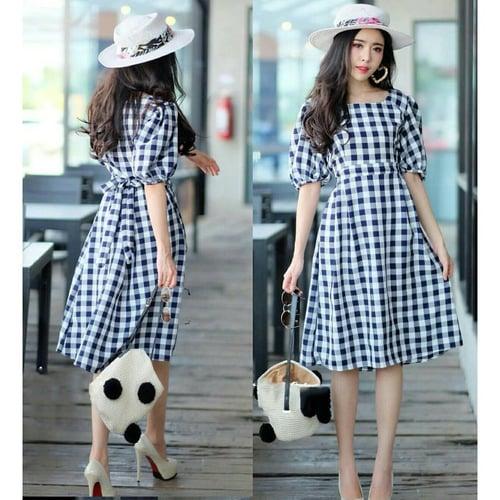 Terlaris Dress Cindy Midi Dress Model Casual Terkini