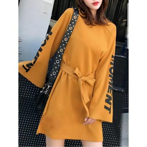 Terlaris Dress Moment Mini Dress Lengan Panjang Model Casual Terkini