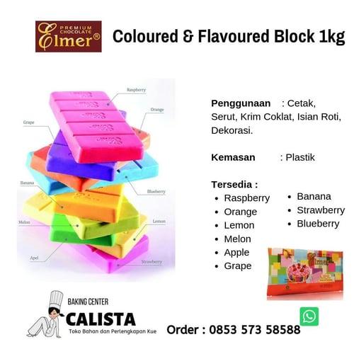 Elmer Coloured & Flavoured Block  APPLE1kg
