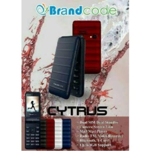BRANDCODE Handphone Cytrus Flip Dual Sim COD909 Garansi Resmi