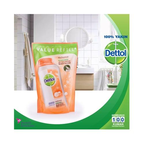 DETTOL Refill Bodywash Sabun Mandi Cair  Radiance 450 ml
