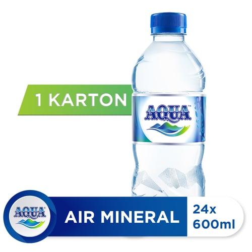 AQUA Air Mineral 600ml isi 24 botol