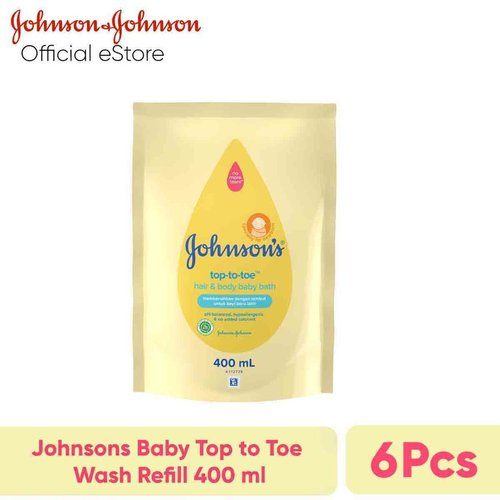 JOHNSONS Baby Top to Toe Wash Refill 400 ml