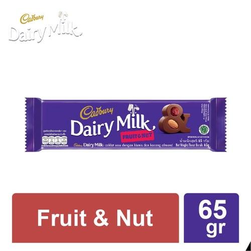 CADBURY FRUIT & NUT 65 GR