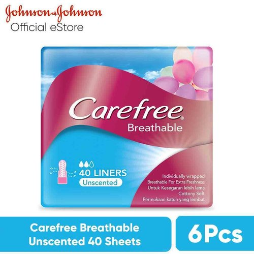 CAREFREE Breathable Unscented 40 Sheets