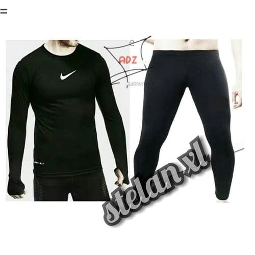 Paket Hemat Stelan Xl Baselayer Baju Manset Dan Celana Legging