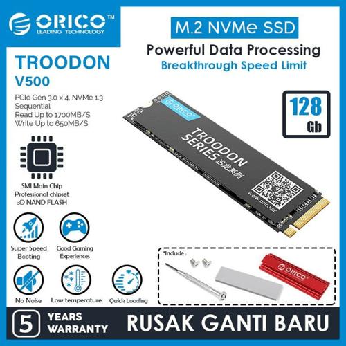 ORICO128GBSSDM.2NVMe2280TROODONSERIES-V500-128GB
