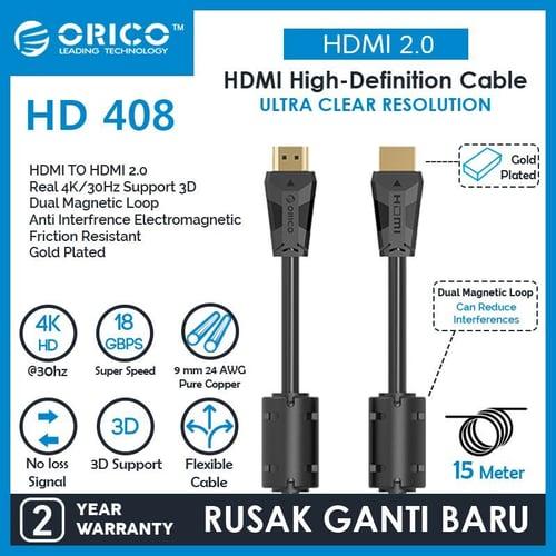 ORICO Cable HDMI 2.0 4K 30Hz - 15M - HD408-150