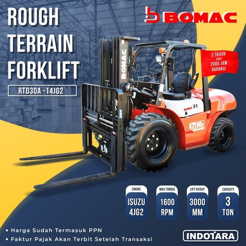 Bomac Rough Terrain Forklift 3 TON - RD30A-14JG2