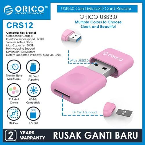 ORICO USB3.0 TF Card MicroSD Card Reader - CRS12 - ORANGE