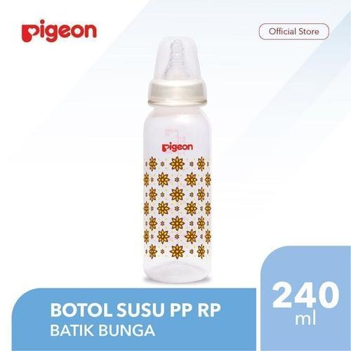 PIGEON Botol Susu PP RP 240Ml - Batik Bunga