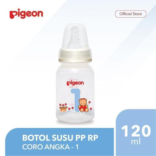 PIGEON Botol Susu PP RP 120Ml - Coro Angka 1