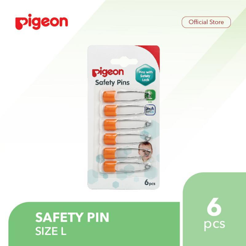 PIGEON Safety Pin Isi 6 Pcs - Size L