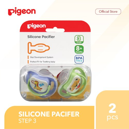 PIGEON Silicone Pacifier Step 3 Isi 2 Pcs