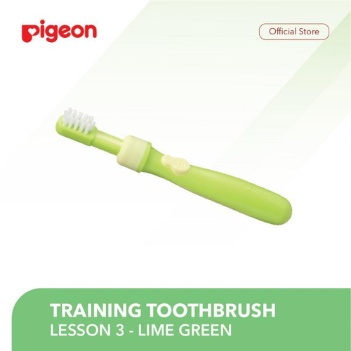PIGEON Training Toothbrush Lesson 3 - Lime Green