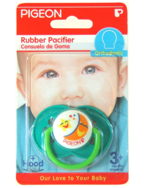 PIGEON Rubber Pacifier Orthodontic Flower Green