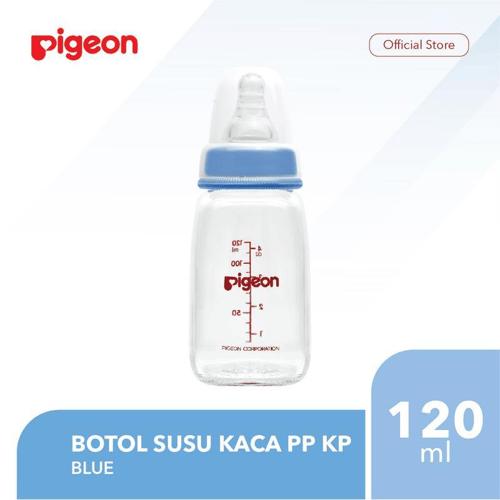 PIGEON Botol Susu Kaca PP KP 120Ml - Blue