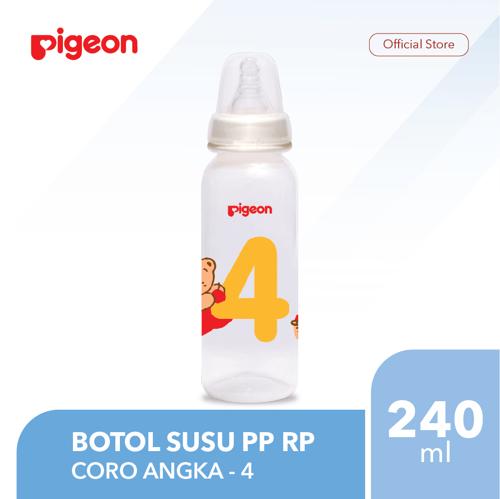 PIGEON Botol Susu PP RP 240Ml - Coro Angka 4