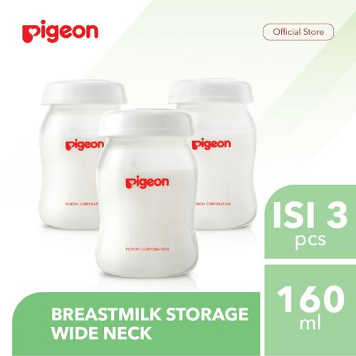 PIGEON Breastmilk Storage Wide Neck 160Ml Isi 3 Pcs