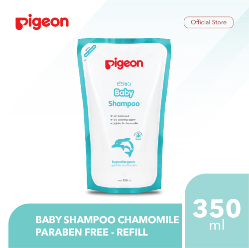 PIGEON Baby Shampoo Chamomile 350Ml Refill - Paraben Free