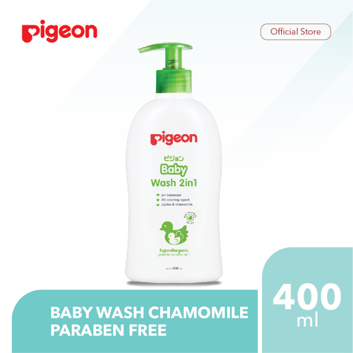 PIGEON Baby Wash Chamomile 400Ml - Paraben Free