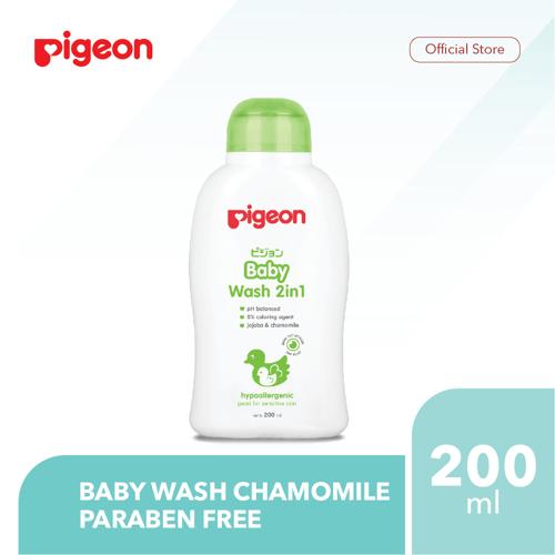 PIGEON Baby Wash Chamomile 200Ml - Paraben Free
