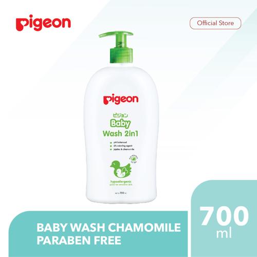 PIGEON Baby Wash Chamomile 700Ml - Paraben Free