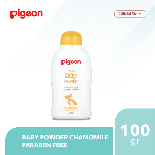 PIGEON Baby Powder Chamomile 100Gr - Paraben Free