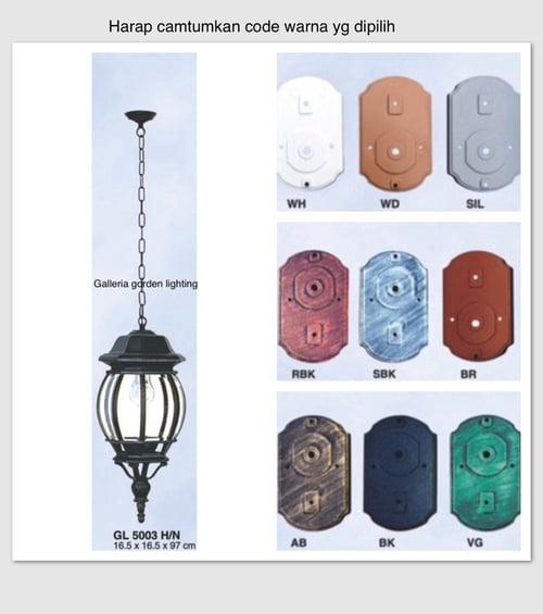 Lampu Gantung Dekorasi Teras