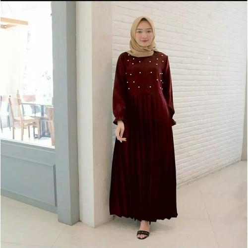 Terlaris Gamis Ayura Maxi Dress Syari Muslimah Model Casual Terkini